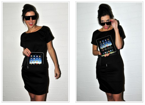 iPad little black dress