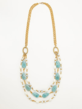 Rachel Reinhardt Amazonite and Howlite Rib Necklace