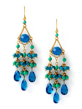 Rachel Reinhardt Blue Chandelier Earrings