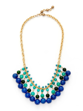 Rachel Reinhardt Blue Mix Bib Necklace