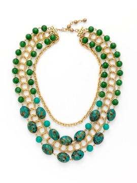 Rachel Reinhard Green and Turquoise Necklace