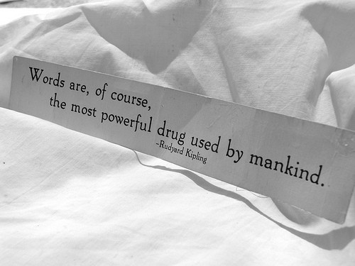 words are the most powerful drug image