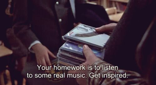 Your homework is to listen to some real music.  Get inspired.