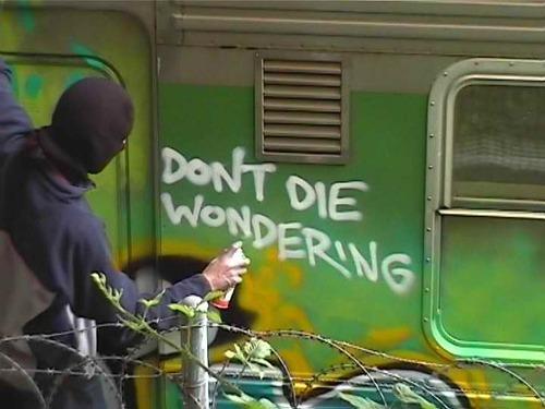 don't die wondering image