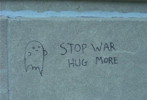 stop war hug more
