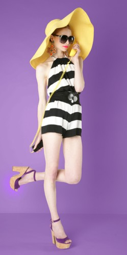 Alice + Olivia Resort 2012, Nautical Romper