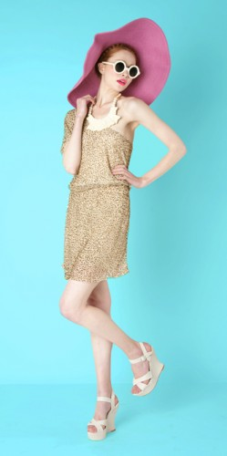 Alice + Olivia Resort 2012, Gold Dress